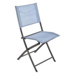 Chaise Pliante De Jardin Bleu Acier Denver Garantie 2 An